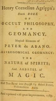 Occult Philosophy Book 1 - Henry Cornelius Agrippa - GreatArcana